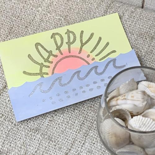 【メッセージカード】HAPPY