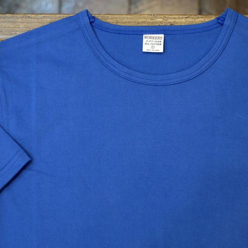 Workers(ワーカーズ) 3PLY クルーネックTシャツ ブルー