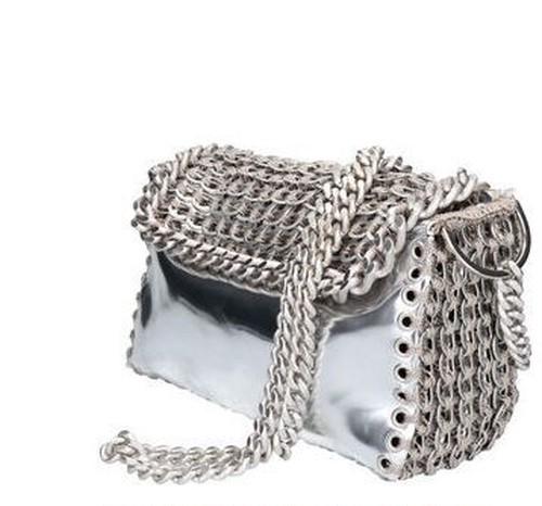 """ Robertina""  eco silver  bag"