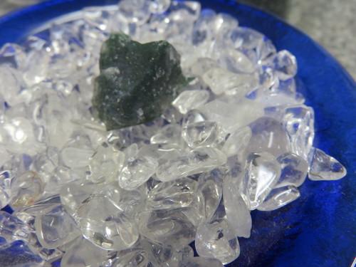 モスアゲート 原石  水晶サザレセット  定形外郵便料込