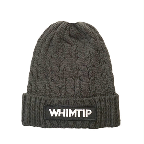 【WHIMTIP】LOGO KNITCAP gray
