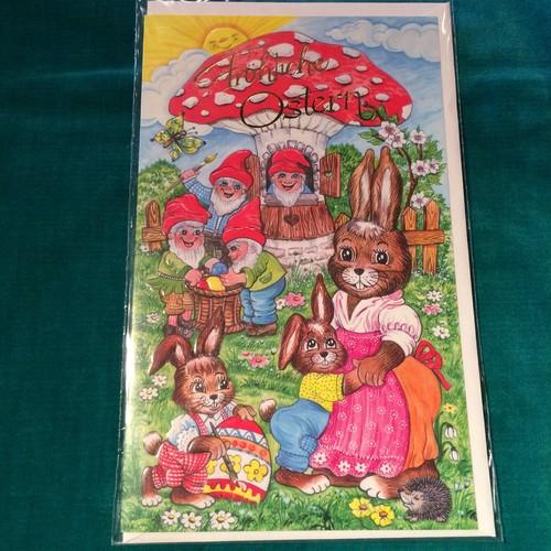 ドイツ イースター メッセージカード キノコ
