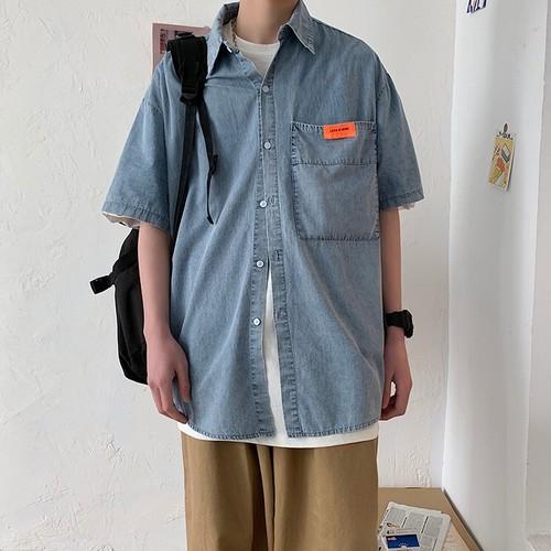 ビッグポケットデニムシャツ BL6290