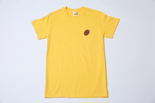 ブライアン「コーヒー豆Tシャツ(黄)」
