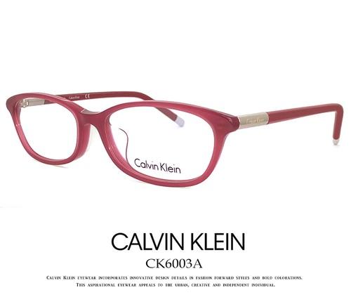 カルバンクライン レディース メガネ ck6003a-610 klein 眼鏡 女性用 アジアンフィットモデル