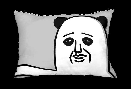 パンダおっさん枕カバー(腕枕)