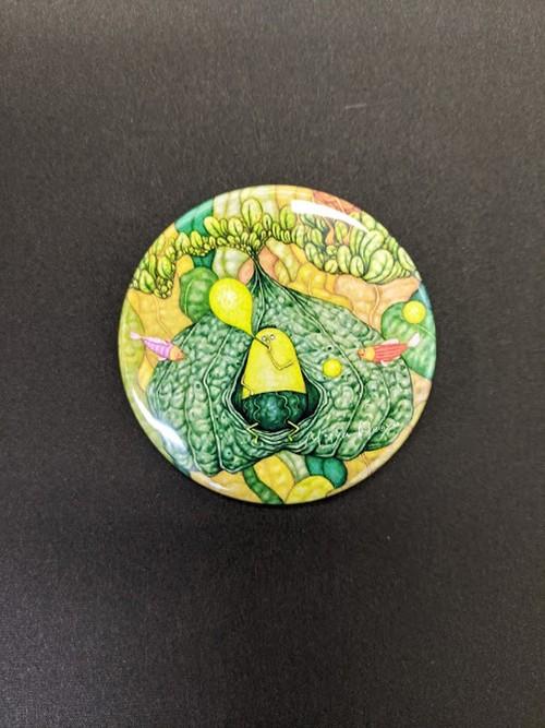 【ミーヤホーヤ】缶バッジ 57mm『ホーヤと海藻ふうせん』