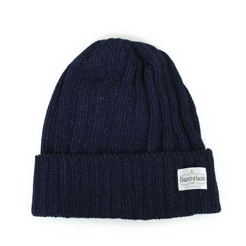 Daze'n Haze indigo watch cap (wide rib)