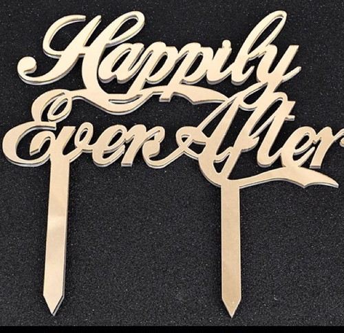 "ケーキトッパー""Happily Ever After"""