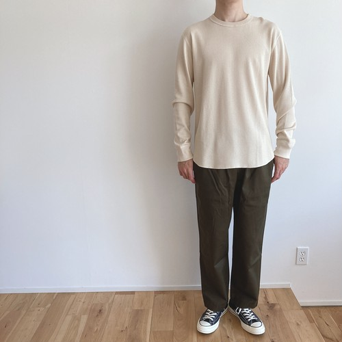 niuhans  Pima Cotton Thermal Crew Neck L/S Tee