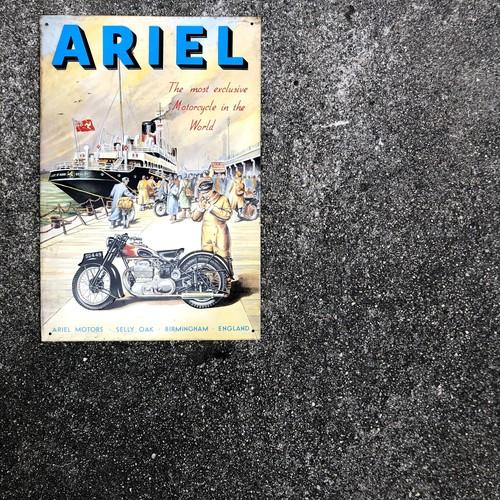 ARIEL アリエル 英車 ビンテージ イギリス製 メタルサイン 当時物 90年代 ブリキ看板