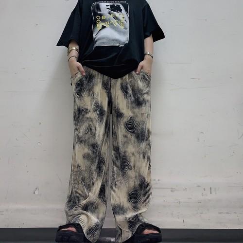 【即納】韓国ファッション タイダイ柄プリーツパンツ