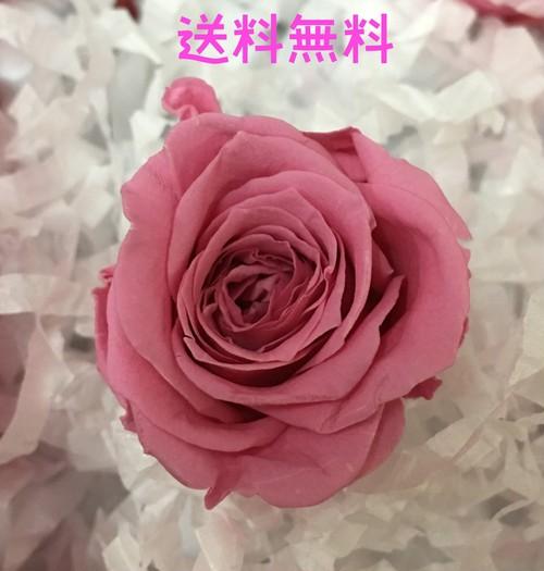 【送料無料】花のhiro's japan プリザーブドフラワー 薔薇 1輪 単品 ローズ系ピンク 525