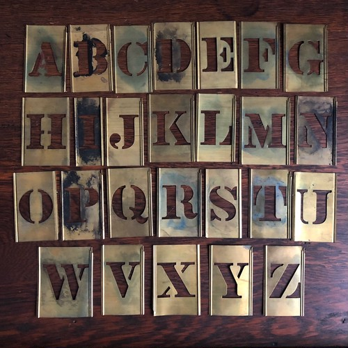 Vintage Brass Stencil Set
