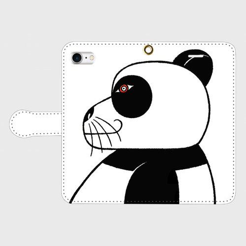 iPhone7 手帳型ケース「Panda」