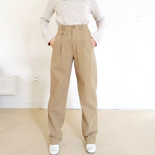 tapered cotton pants