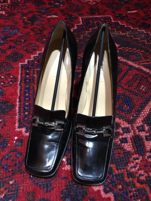 .GUCCI LEATHER HORSE BIT HEEL PUMPS MADE IN ITALY/グッチレザーホースビットヒールパンプス 2000000036724