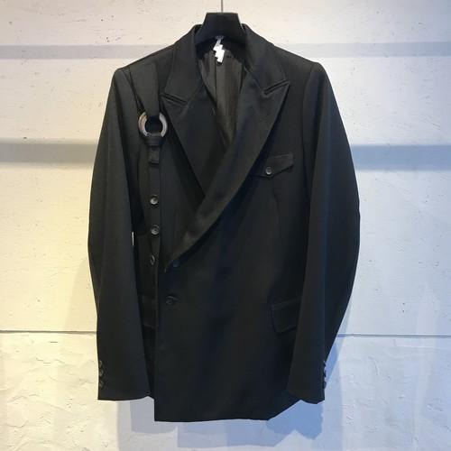 SOSHIOTSUKI 20ss KESA BREASTED SUITS BLACK ソウシオオツキ ケサ ブレステッド スーツ ブラック S20SSJKT01W