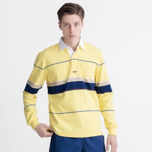 Multi-Color Striped Rugby(Lemon Combo)