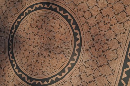 大判152x141cm-紫05 円 不思議の色 アマゾン・シピボ族の泥染め