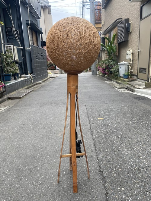 vintage bamboo stand light