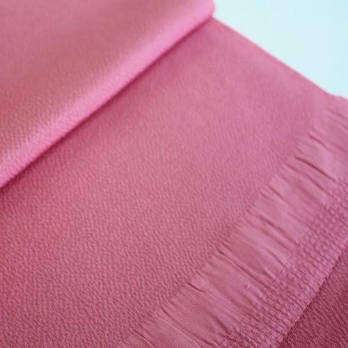 【ちりめん帯揚げ】ローズピンク