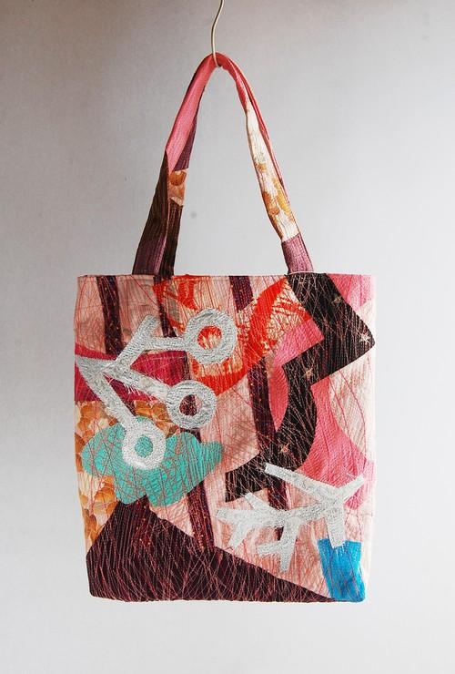 やまだあやこ Ayako Yamada ミシン刺繍トートバッグ Sewing stitch Tote Bag