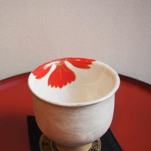 京焼 フリーカップ 撫子 赤