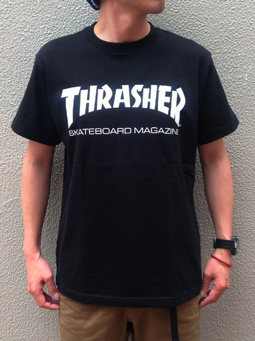 THRASHER (スラッシャー) MAG-LOGO Tee ブラック
