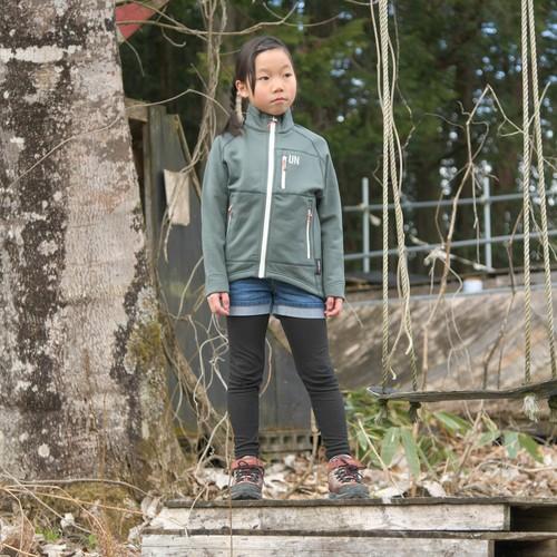 Kids130 / UN3000 Mid weight fleece Jacket / Charcoal