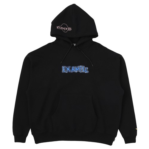EXAMPLE × MARK GONZALES HOODIE / BLACK