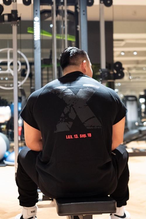 "Cutoff Raglan ""X""T-Shirts (BK/BK)の商品画像3"