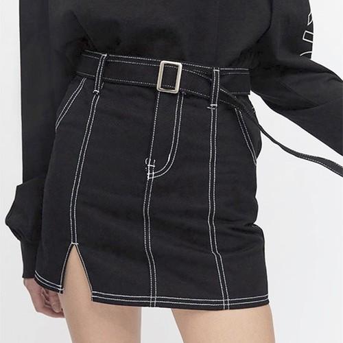 ブラック ハイウエスト ミニタイトスカート