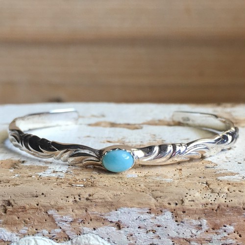Larimar wave bangle