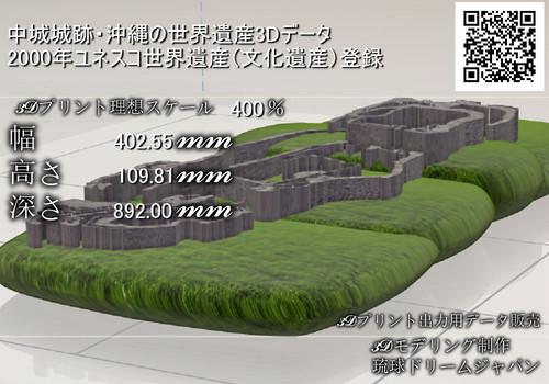 ジオラマ「中城城跡」3Dプリント用データ