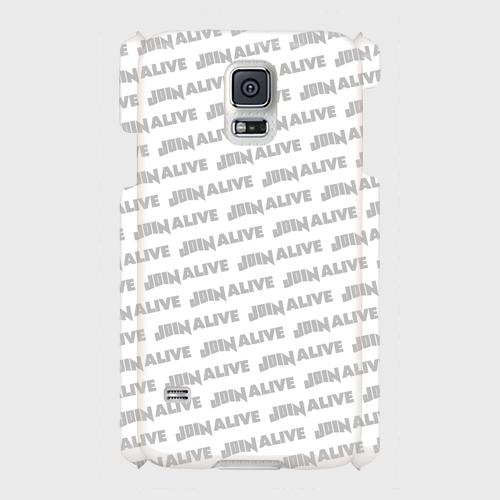 (通販限定)【送料無料】Galaxy S5(SC-04F/SCL23)_スマホケース ストライプ_ホワイト