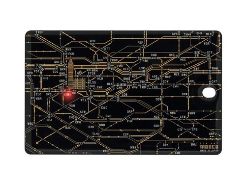 FLASH London回路線図 ICカードケース  黒【名入れ無料サービス実施中】