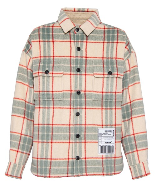WOOL CHECK BIG SHIRT JACKET[REJ051]