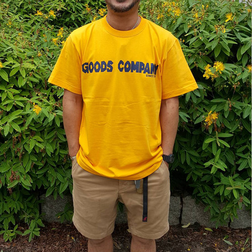 GOODSCOMPANY Tシャツ YELLOW×NAVY goodst