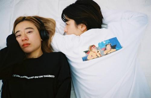 Painting by Makoto Fujimura_Tenshi long sleeve Tshirt
