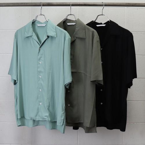 【MANUAL ALPHABET】 RAYON LAWN S/S SHIRT (3色展開) マニュアルアルファベット レーヨン ワンナップカラーシャツ 半袖シャツ