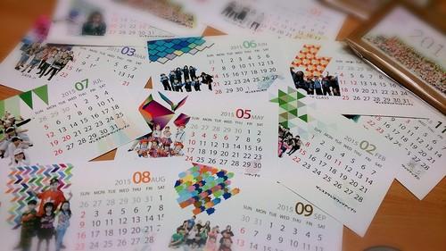 紙ケーススタンドカレンダー2015