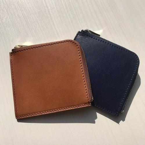 イタリアンレザーブッテーロのL字ファスナーミニウォレット ミニ財布