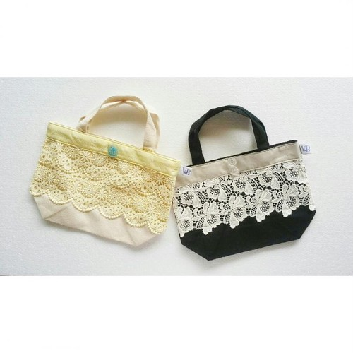 Lace Mini Tote Bag by Violet Bouquet