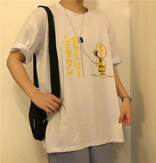 【トップス】韓国系カジュアルカートゥーン半袖Tシャツ26659682