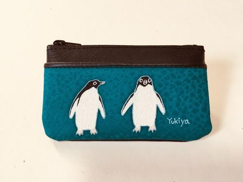 小銭入れ「アデリーペンギン」ピーコックグリーン