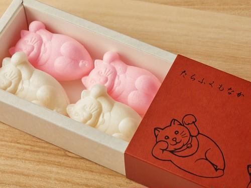 【限定販売】紅白祝い箱 たらふくもなか6個入り 1箱(6個入り箱×1個)