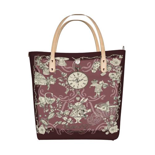 ◆受注生産◆デザイントートバッグ「Alice (ローズピンク)」柄の線画