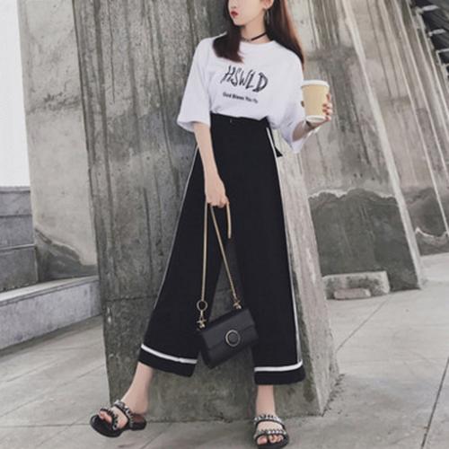 韓国ファッションゆったり着やせトレンド着回し力抜群パンツ・ボトムス