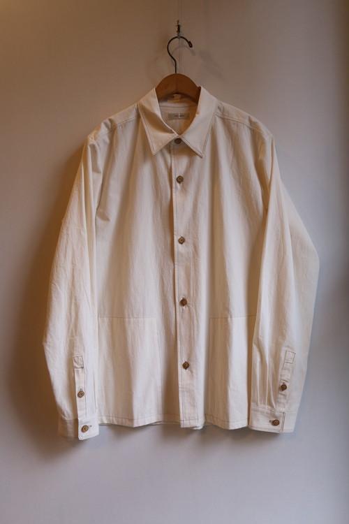 THE HINOKI コットンボイルパラシュートクロス レギュラーカラーシャツ NATURAL #19S-9